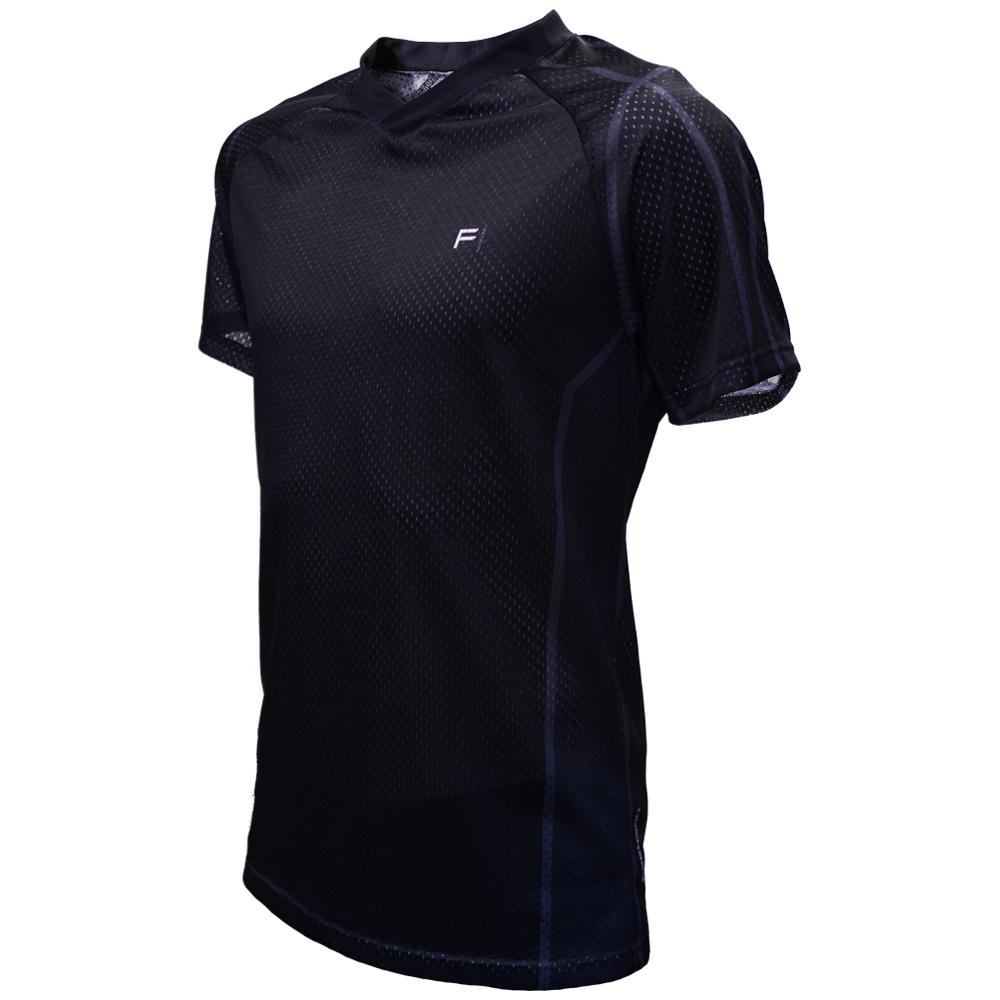 FRENSON O-DIVISION mesh orienteering shirt, Black