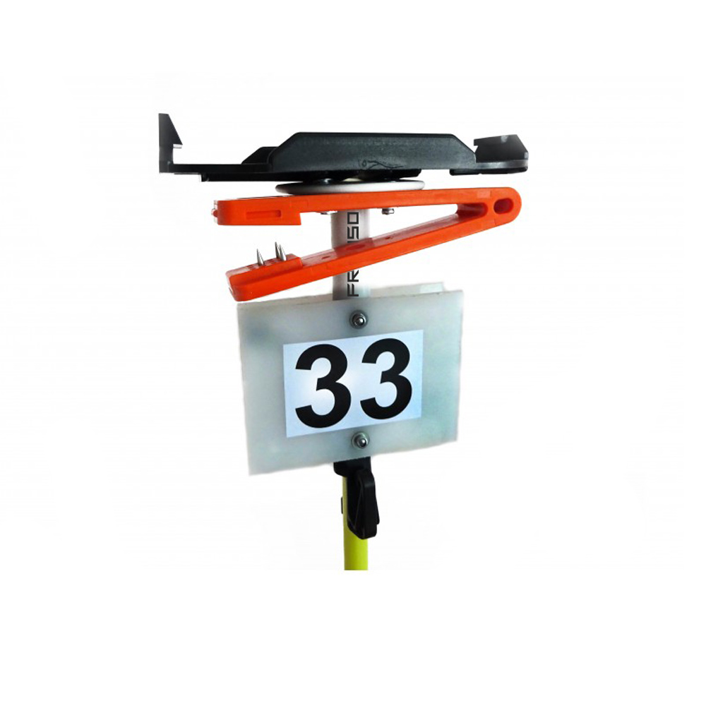 FRENSON fiberglass control post with BSF8 mounting plate, needle punch and number plate